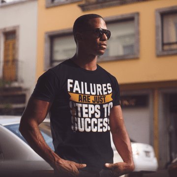 failures are just steps to success motivational t shirt